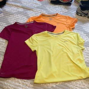 3 Nike Dry-Fit Running T-shirt's